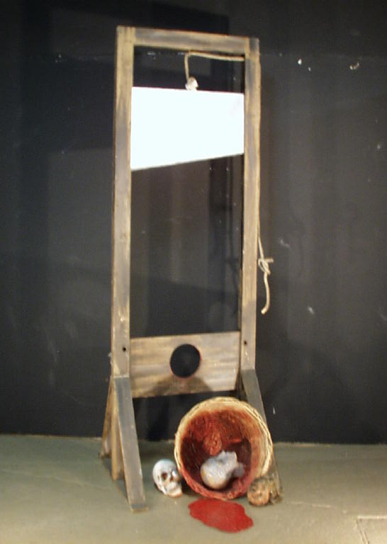 Guillotine with Head in Basket (#1160) - Props Unlimited ...
